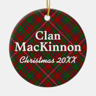 Clan MacKinnon Scottish Tartan Christmas Ornament