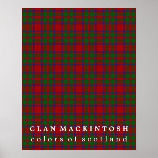 Clan MacKintosh Colours of Scotland Tartan Poster