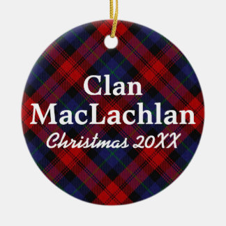 Clan MacLachlan Scottish Tartan Christmas Ornament