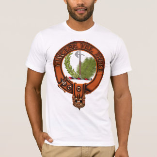 Clan MacLaine of Lochbuie Family Crest and Targe T-Shirt