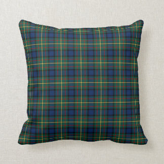 Clan MacLaren Green and Blue Scottish Tartan Throw Pillow