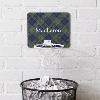 Clan MacLaren Tartan Customize Name Mini Basketball Hoop