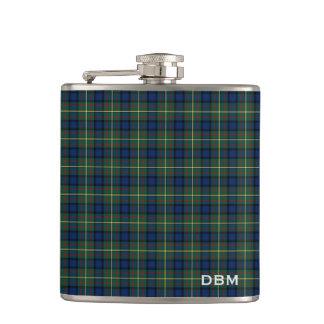 Clan MacLaren Tartan Monogram Hip Flask