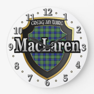 Clan MacLaren Tartan Scottish Dream Clock