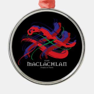 Clan MacLaughlin Tartan elegant metal ornament