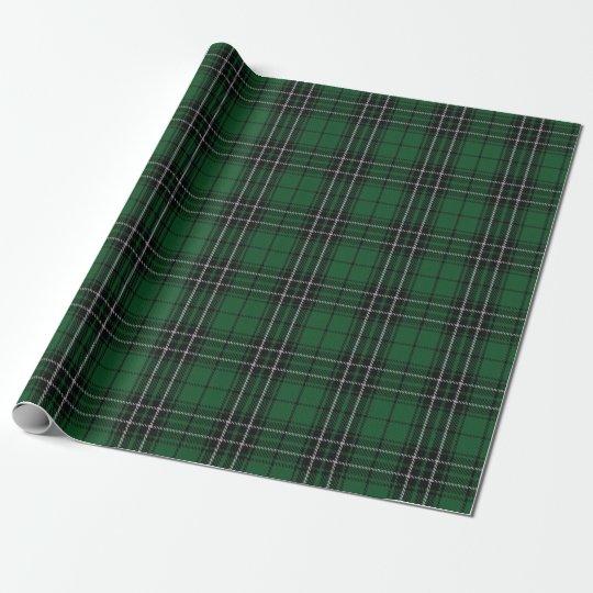 Clan MacLean Green and Black Hunting Tartan Wrapping
