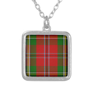 Clan MacLean Of Duart Tartan Silver Plated Necklace