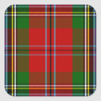 Clan MacLean Of Duart Tartan Square Sticker
