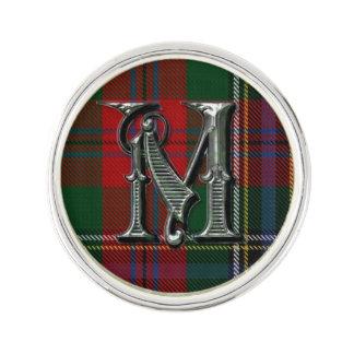 Clan MacLean Plaid Monogram A Lapel Pin