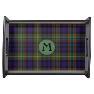 Clan MacLellan Tartan Plaid Monogram Serving Tray