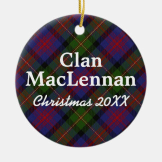 Clan MacLennan Scottish Tartan Christmas Ornament