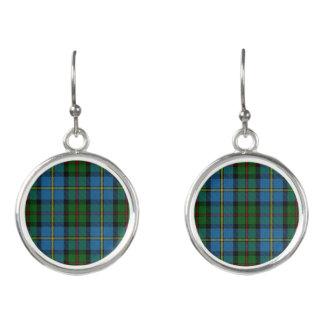 Clan MacLeod Blue & Green Hunting Tartan Plaid Earrings