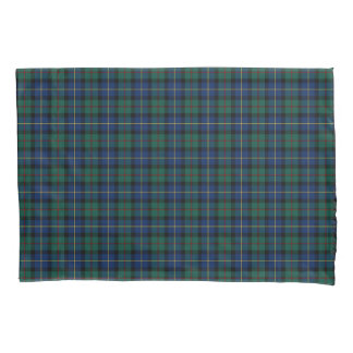 Clan MacLeod Green and Blue Scottish Plaid Pillowcase