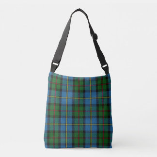 Clan MacLeod of Harris Blue Green Tartan Plaid Crossbody Bag