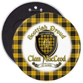 Clan MacLeod of Lewis Scottish Proud Button