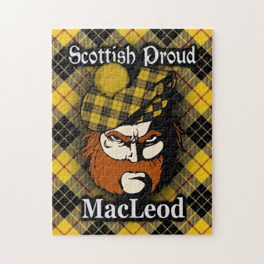Clan MacLeod of Lewis Scottish Proud Tartan Jigsaw