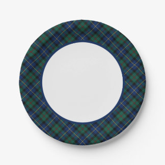 Clan MacLeod of Skye Tartan Border 7 Inch Paper Plate