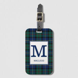 Clan MacLeod Of Skye Tartan Monogrammed Luggage Tag