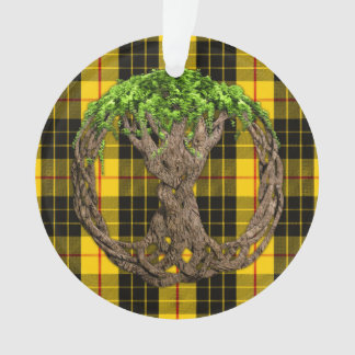 Clan MacLeod Tartan And Celtic Tree Of Life Ornament