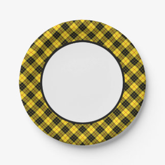 Clan MacLeod Tartan Border 7 Inch Paper Plate