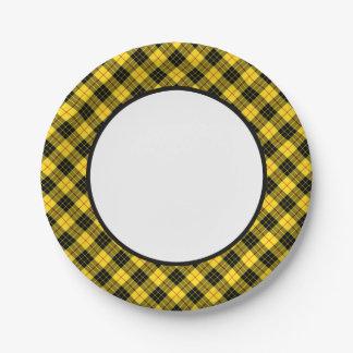 Clan MacLeod Tartan Border Paper Plate