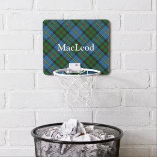 Clan MacLeod Tartan Customize Name Mini Basketball Hoop