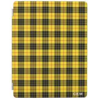 Clan MacLeod Tartan Yellow & Black Plaid Monogram iPad Cover