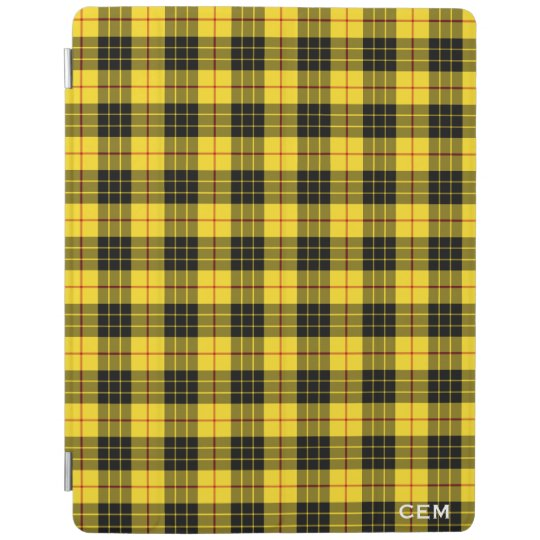 Clan MacLeod Tartan Yellow & Black Plaid Monogram