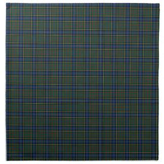 Clan MacMillan Blue and Green Scottish Tartan Napkins
