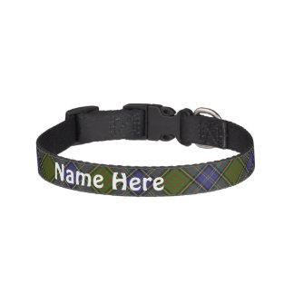 Clan MacMillan Tartan Customize Pet's Name Dog Collars