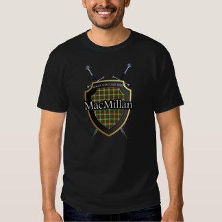 Clan MacMillan Tartan Shield and Swords Tee Shirts