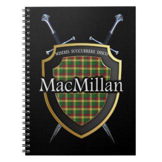 Clan MacMillan Tartan Shield & Swords Spiral Notebooks