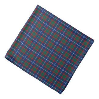 Clan MacNab Tartan Bright Blue and Red Plaid Bandana