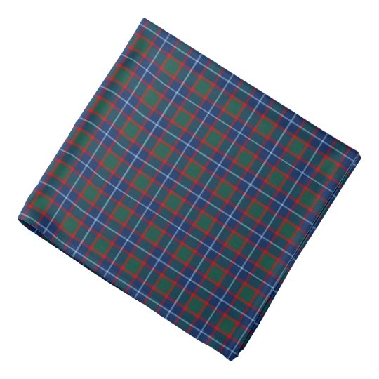 Clan MacNab Tartan Bright Blue and Red Plaid
