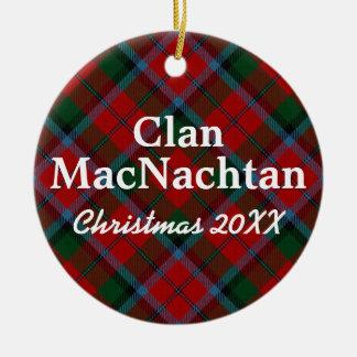 Clan MacNachtan Scottish Tartan Christmas Ornament
