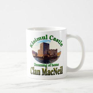 Clan MacNeil Dreaming of Home Kisimul Castle Barra Basic White Mug