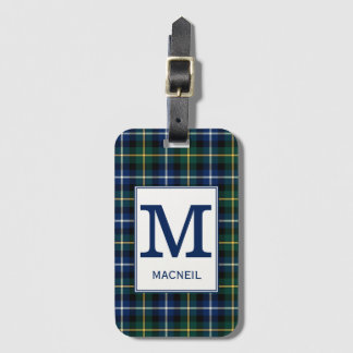 Clan MacNeil Tartan Monogrammed Luggage Tag