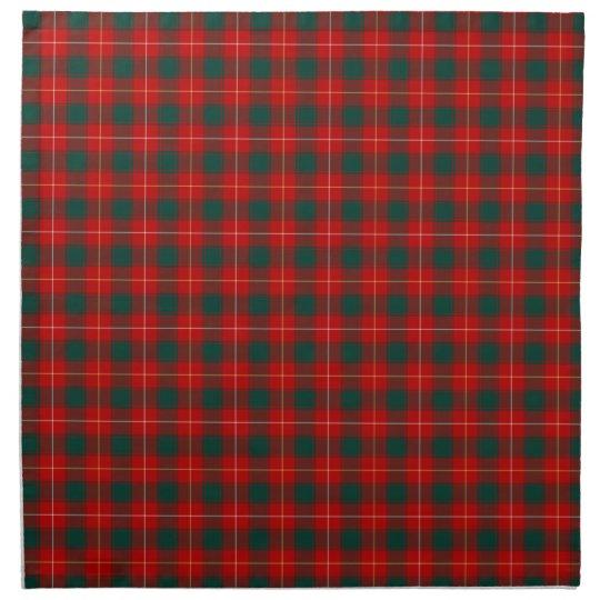 Clan MacPhee Bright Red and Green Scottish Tartan