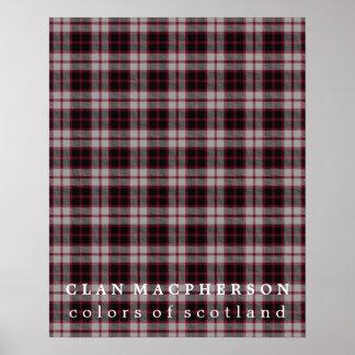 Clan MacPherson Colors of Scotland Tartan Poster
