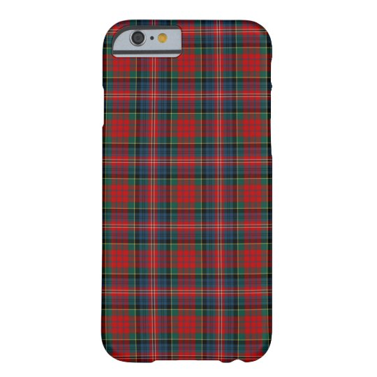 Clan MacPherson Red and Royal Blue Tartan Barely