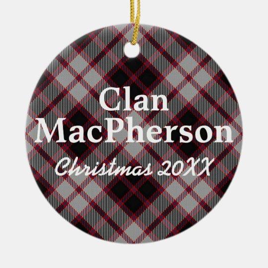 Clan MacPherson Scottish Tartan Christmas Ornament