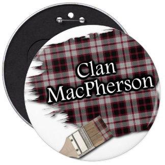 Clan MacPherson Tartan Paint Brush 6 Cm Round Badge
