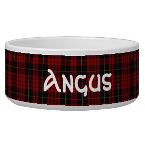 Clan MacQueen Custom Tartan Plaid Pet Bowl