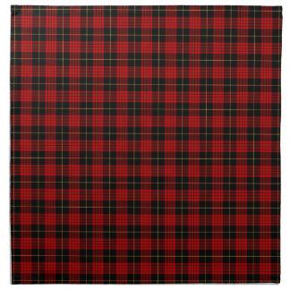 Clan MacQueen Red and Black Scottish Tartan Napkin