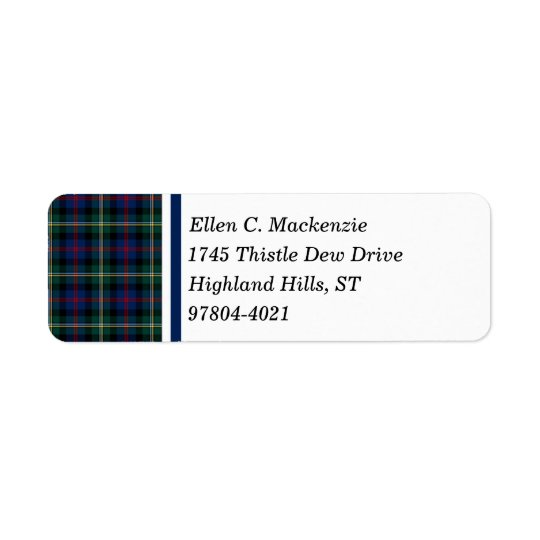 Clan Malcolm Dark Blue and Green Scottish Tartan