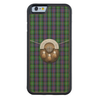 Clan Malcolm Tartan And Sporran Carved Maple iPhone 6 Bumper Case