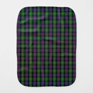 Clan Malcolm Tartan Burp Cloth