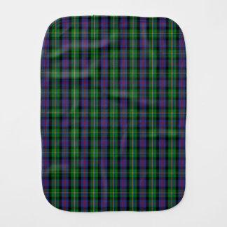 Clan Malcolm Tartan Burp Cloth