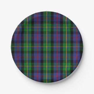 Clan Malcolm Tartan Paper Plate