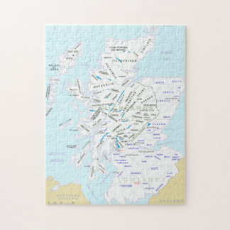 Clan Map of Scotland Jigsaw Puzzle